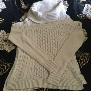 American Eagle cowl neck cable knit sweater
